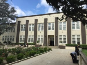 Van Nuys High School Main Building in Van Nuys, California.