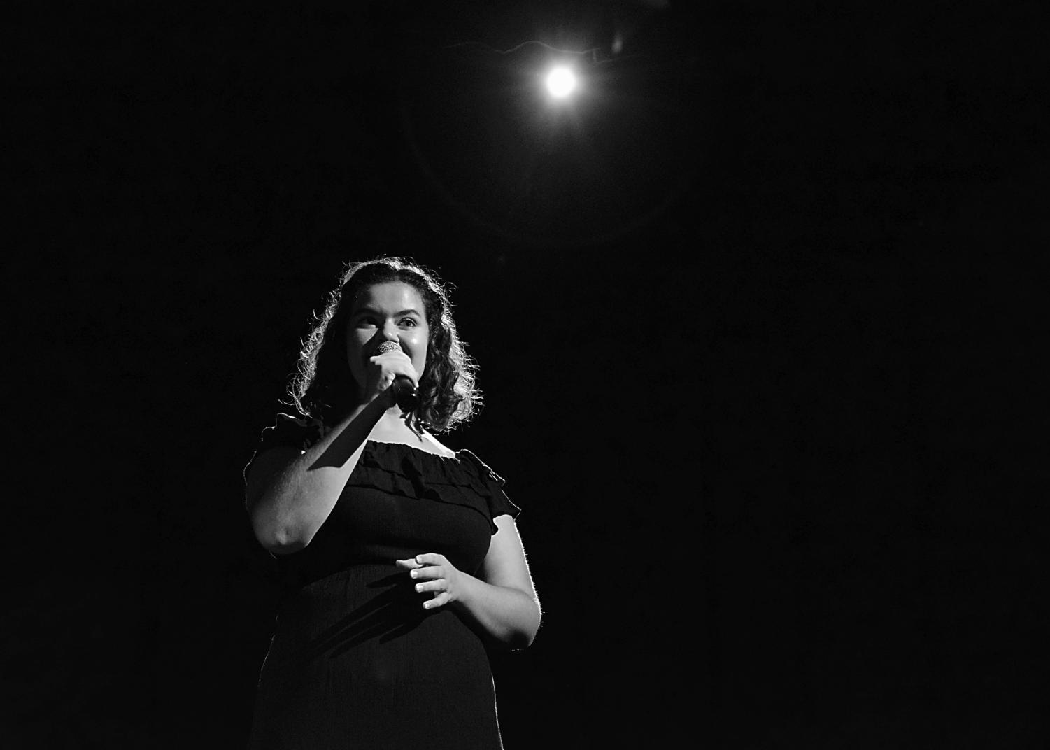 HEARING THE UNTOLD STORY: Vannaires Singer Destiny Wheeler transforms her history into a lullaby on Friday at the Fall Concert.