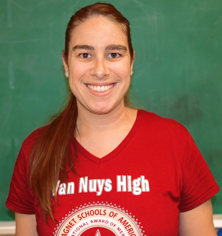 Ms.+Abbey+Rickelmann%2C+a+substitute+from+Conejo+Hill+Valley+High+School%2C+is+bringing+her+experience+in+Science+and+Chemistry+to+Van+Nuys+High.