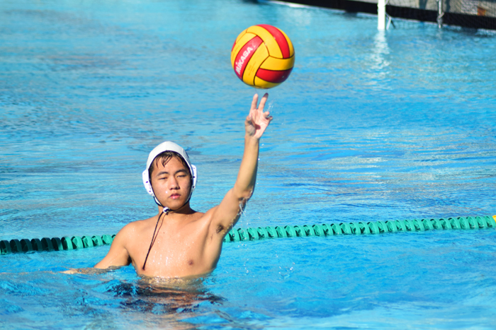 Nathan Oh, the Boy's Water Polo team captain, spends hours training to prepare for a game.