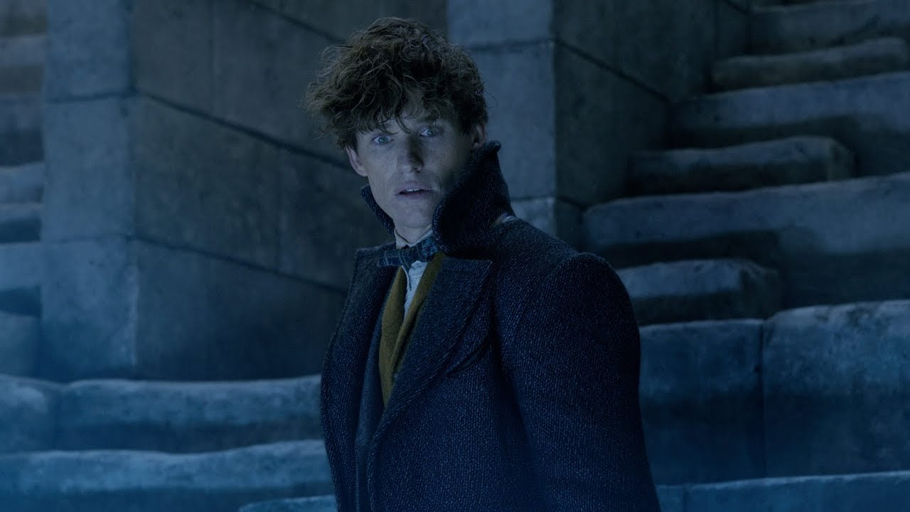 Wizard Newt Scamander prepares for action against Grindelwald in