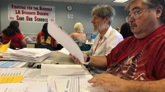 Teacher%27s+union+members+overwhelming+voted+to+authorize+a+strike.+Officials+counted+ballots+in+late+August.