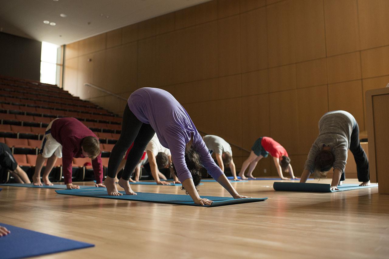 Dickinson School of Law's yoga class.