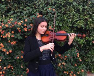 Aaliyah Ali-Khan playing the violin