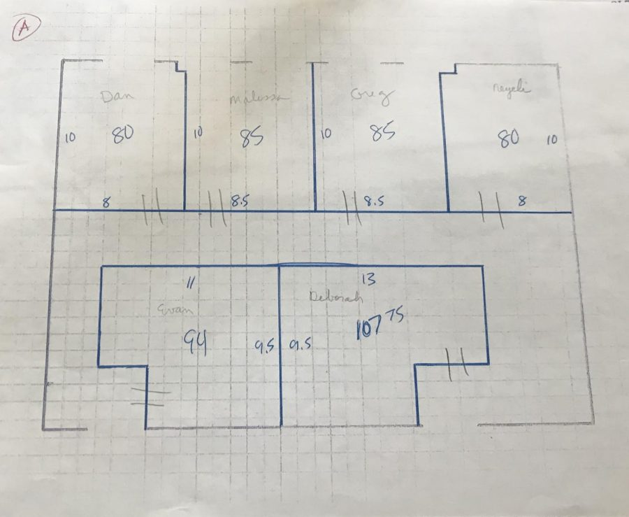 The construction plan for the A-G offices.
