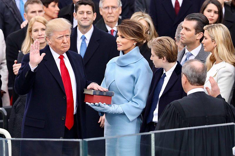 Trump sworn in