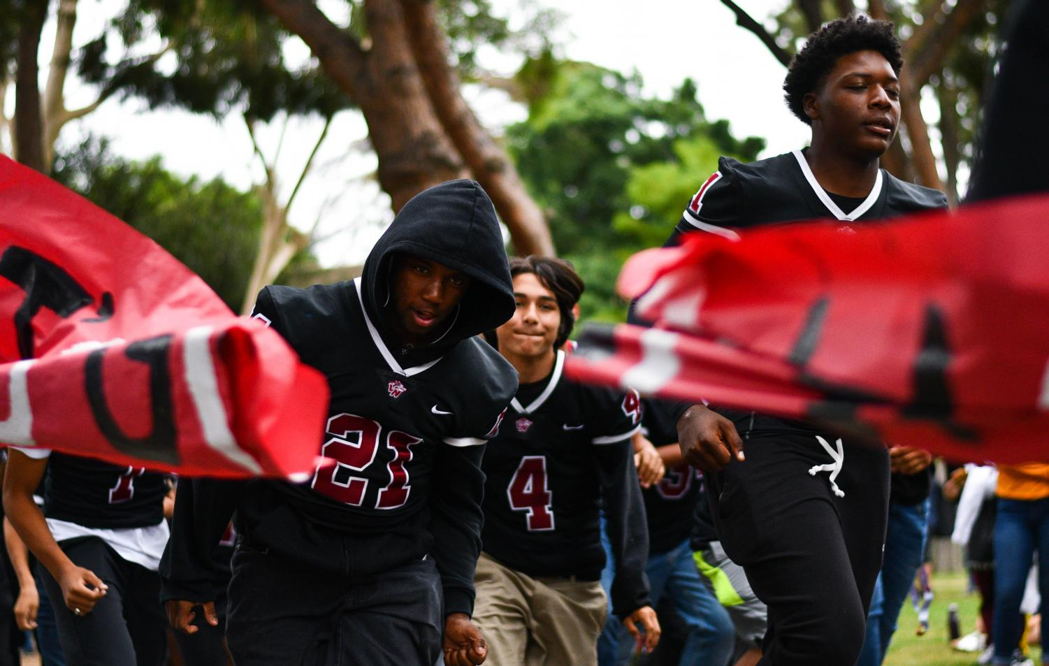 On September 27, 2019 the school prepares for the game against Kennedy.