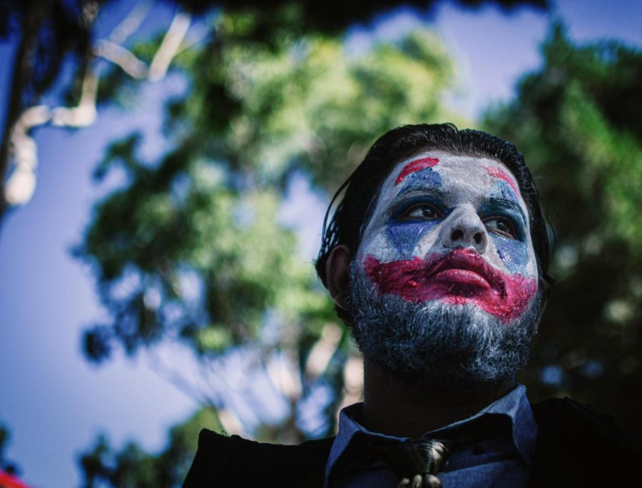 Students paraded around campus on Friday Oct. 31, showing off and comparing their Halloween costumes. Saahil Gaur chose the Joker, painting his face like Batman's antagonist, played by Joachim Phoenix in the current movie.