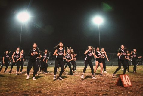 Dance Company performing before the Homecoming game