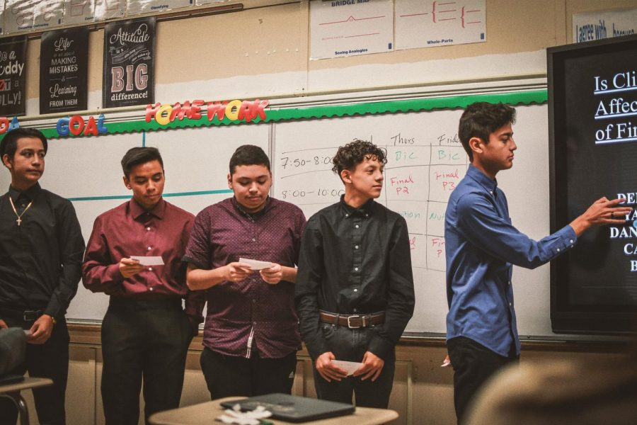 Group of Boys Presenting