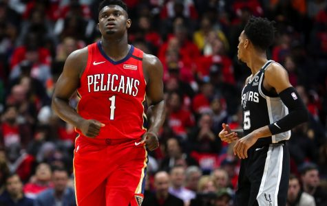 New Orleans Pelicans Zion Williamson (1) in his NBA debut.