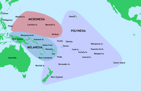 A map of the pacific islands.