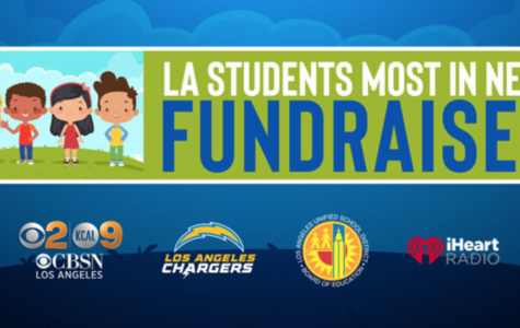 The header for the LA Students Most in Need Fundraiser on their website.