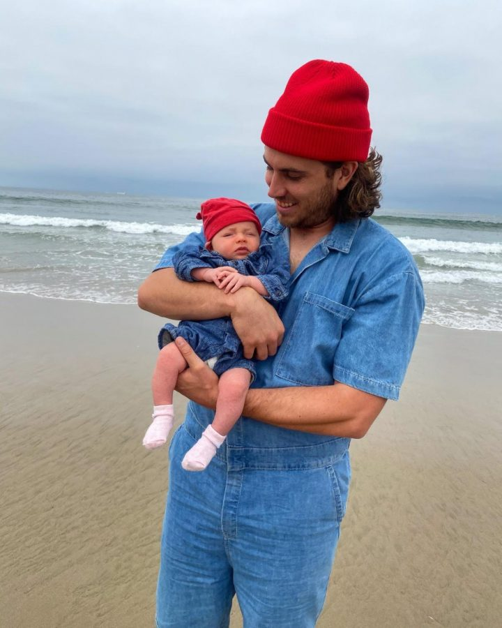 Mr. Matthew Baker, pictured with his daughter in matching outfits.