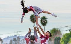 VNHS Cheerleaders performing at pep rally