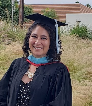 Ms. Ivette Alvarez, pictured during her graduation from CSUN, where she obtained her masters degree in education.