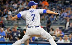 LA Dodgers pitcher Julio Urias pitching
