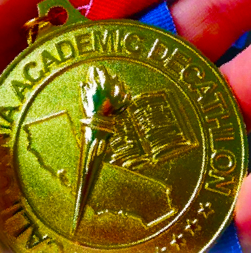 SEEKING MEDALS The Academic Decathlon team placed fourth among LAUSD teams in the Nov. 14 scrimmage.