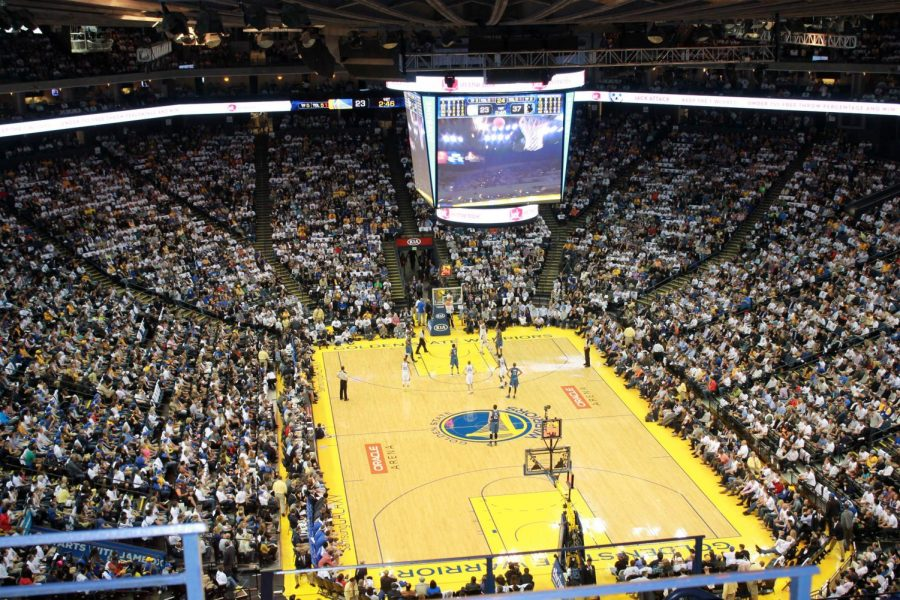 BAY AREA BALLERS The Oracle Arena in Oakland is the home of the Golden State Warriors.