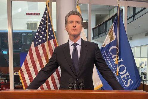 Gavin Newsom announcing his 2 billion dollar plan to reopen elementary school districts.