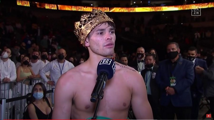 Ryan Garcia wears a crown to fit hit nickname