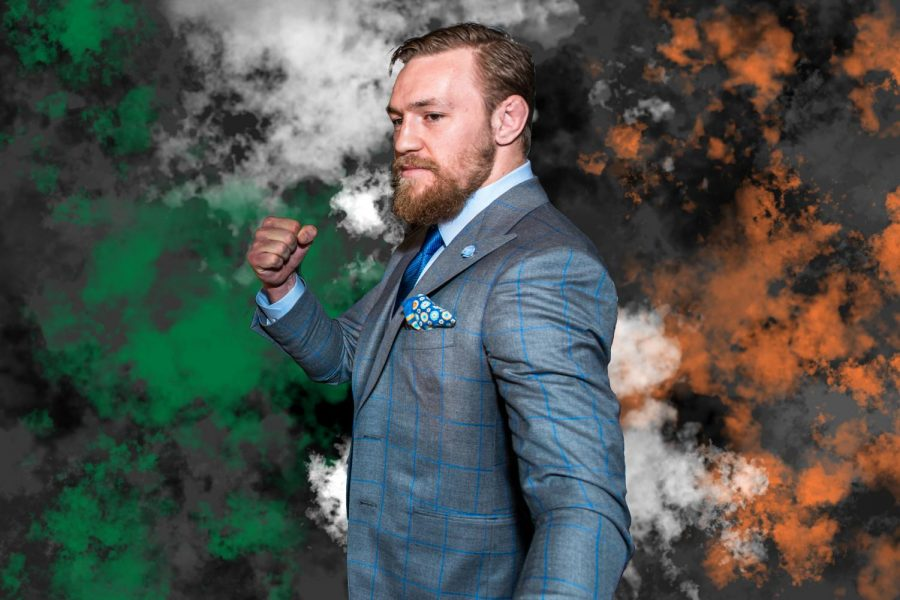 Conor+McGregor+stands+tall+and+ready+for+a+fight+not+knowing+the+outcome+will+be+his+defeat.