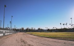 VNHS football field empty due to covid-19 pandemic