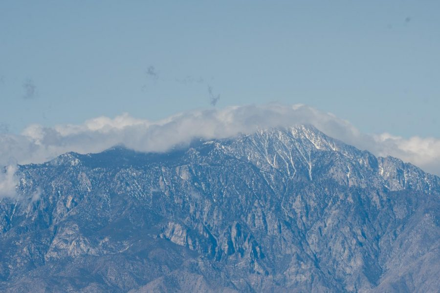 Snow-capped Mt.San Jacinto as seen across the Coachella valley from the Keys Viewpoint.