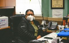 Principal Gardea poses for her first day back on campus after announcing her retirement on April 26th, 2021.