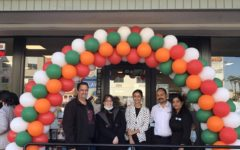 Mr. Marc Strassner and Ms. Suzanne Osman pose in front of the new location with Kirandeep Singh, Owner Tajinder Singh and Kulwant Kaur.