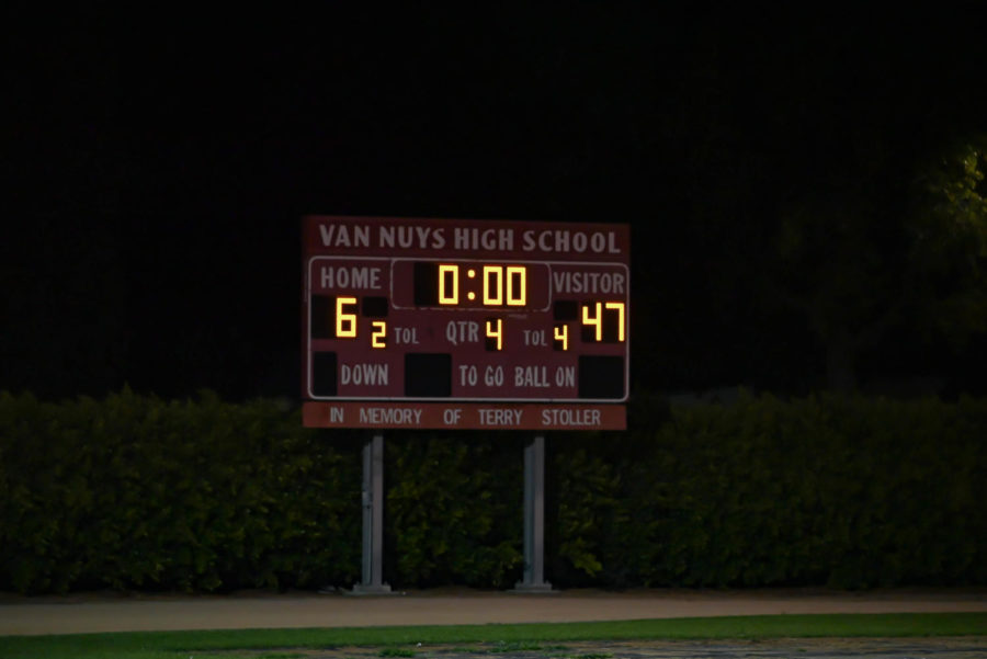 The ending score of Friday nights thrilling football game parallels a dissapointing result of many other games in the season.
