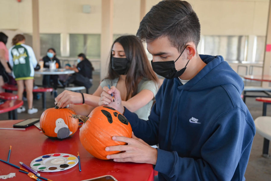 Many students turned to pop culture to decorate their pumpkin, such as Ghostface from the renowned slasher franchise: Scream.